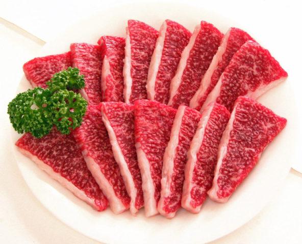 福永産業鹿児島黒牛カルビー焼肉用