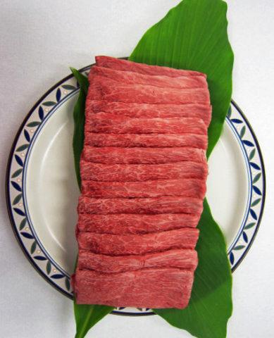 福永産業鹿児島黒牛モモバラすき焼き用