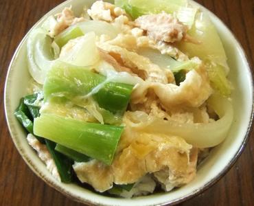 レシピ ツナと油揚の卵とじ丼