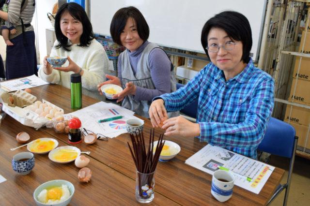 伊豆鶏業 卵の学習会試食