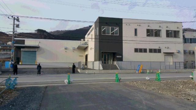 千倉水産加工販売 女川工場前景